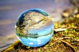 Kristallen bol 100 mm + voetje glas_