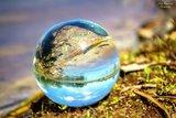 Kristallen bol 50 mm + voetje glas_