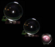Kristallen bol 50 mm + voetje glas