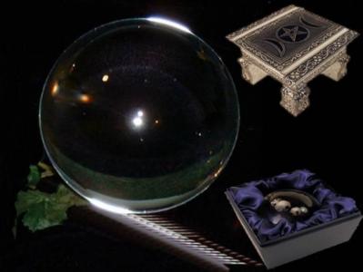 Kristallen bol 200 mm + voetje glas